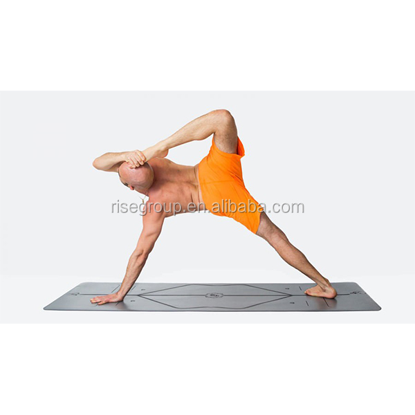 Laser Engraving Printed Natural Rubber PU Leather Yoga Mat