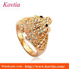 New arrival doll rings fashion animal frog crystal gold animal ring