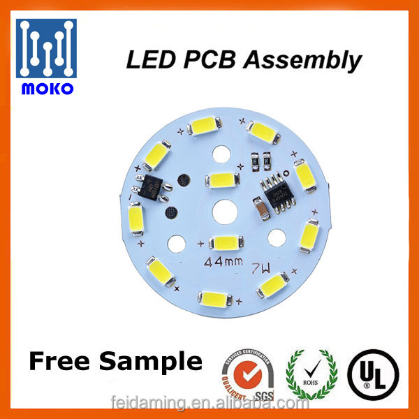 9w Round Plate Smd 5730 Led Pcb For Bulb And Panel Light