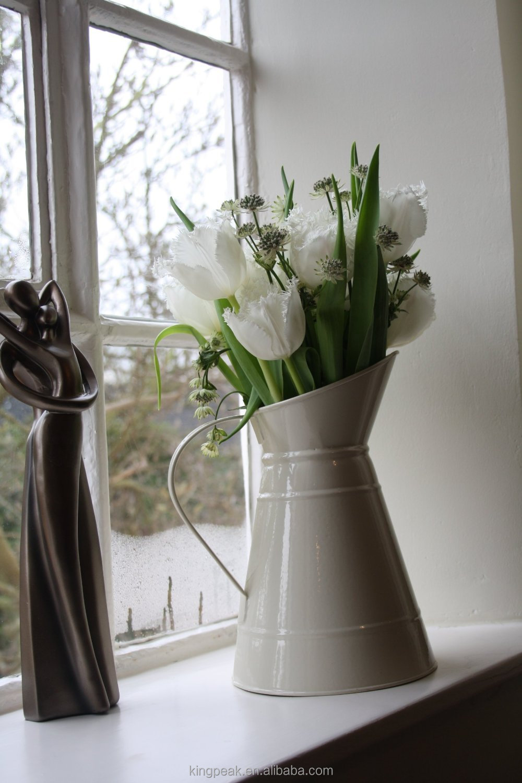 Decorative Jugs And Vases 2015 Hot Sale Cream Meta Jug Cream Color Flower Vase Decoration