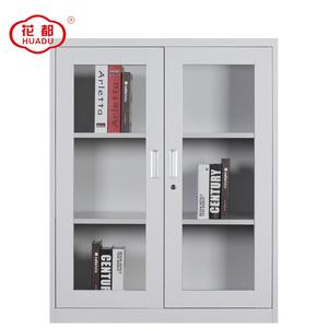 luoyang huadu half height glass door Filing Metal Lockable Cabinet