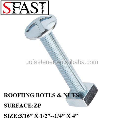 Roofing Bolts With Square Nut, Roofing Bolts With Square Nut Suppliers And  Manufacturers At Alibaba.com