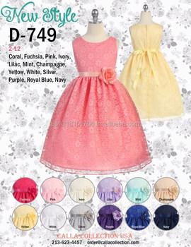 4c4582986723d Flower Girl Dress D-749 - Buy Latest Dress Designs For Flower Girls ...