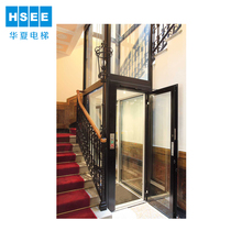 Titanium Wall & Decorative Ceiling Passenger Elevator Villa Lift