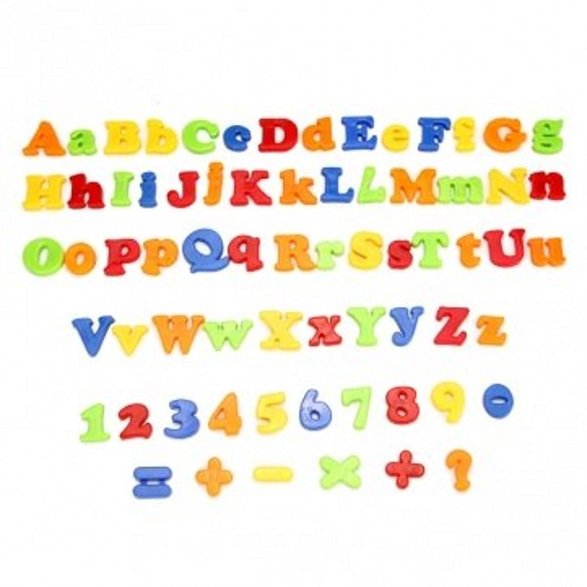 Sangdo 78Pcs Magnetic Capital & Lowercase Alphabet Letters Numbers Toy With Jar CJ432