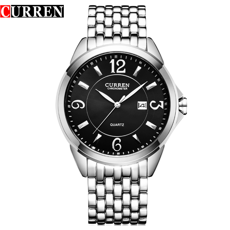 Curren 8071 Branded Men's Watches Stainless Steel Business Watches With Calendar Men Luxury Brand Quartz Watches