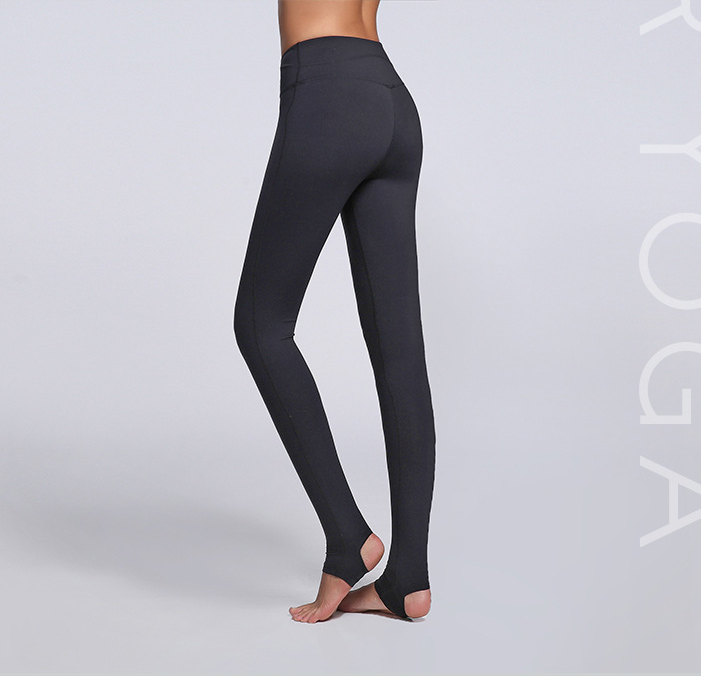Black Color SKin Friendly Breathable Butt Lift Printed Pants High Elastic gym Tights Foot Activewear Yoga Fitness Leggings