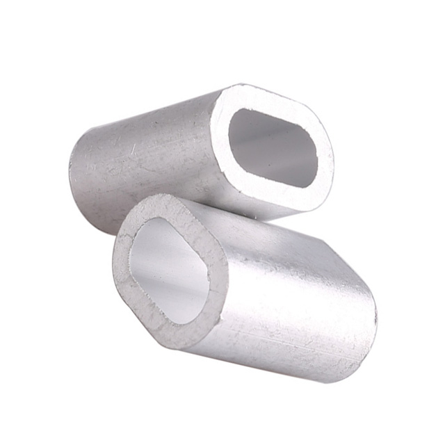 M5 eight type metric ferrule wire rope cable aluminum sleeve  fittings