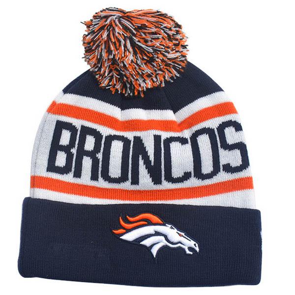 Cuffed Football Winter Knit Toque Cap Sports Team Beanie Hat with Top Ball 142e5e601f5