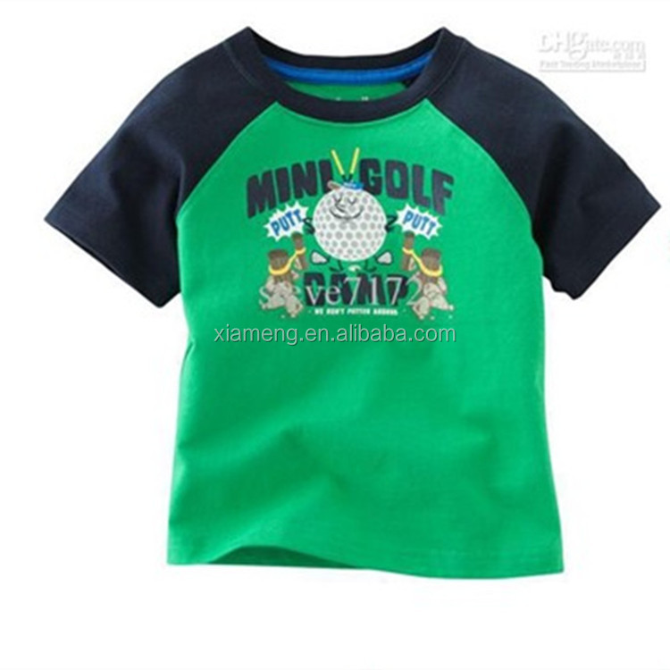 Wholesale Cotton material animal printed boys T shirts , breathable boys stylish t-shirts for boys