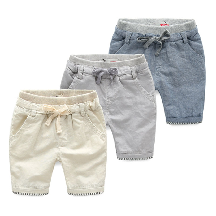 Male child roll up hem knee-length pants baby cotton yarn shorts 2015 children's clothing trousers child summer casual capris