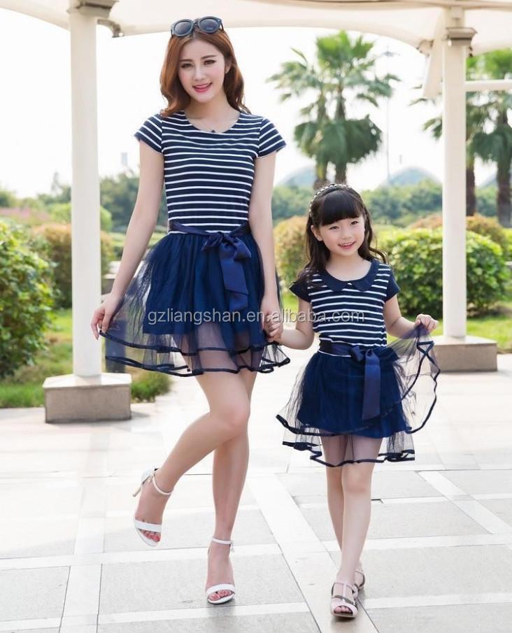 Modelos de vestidos casuales madre e hija