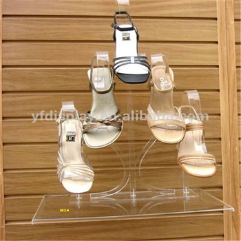 Customized Clear Acrylic Shoe Display Stand
