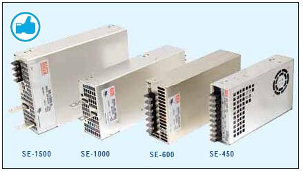 Adj Output DC Fan//OK Enclosed Mean Well SE-1000-24 Switching Power Supplies 1000.8W 24V 41.7A Input: 90~132 VAC 254~370 VDC High Power Density 180~264 VAC