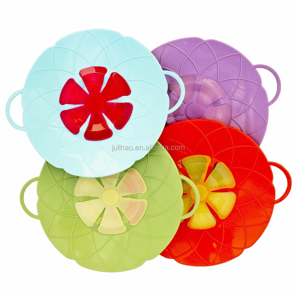 Flower Shape Silicone Lid Stops Pots Lid