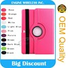 360 Rotating Stand Flip PU Skin Cover Case For ipad 3/4 stand case