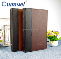 GuanMei Post Bound 4D 3up PP Photo Album With PU Leather Cover