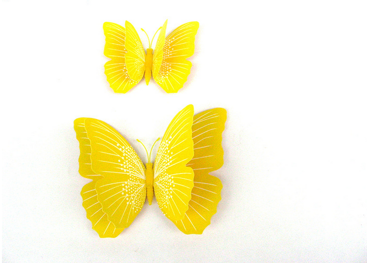 5 Colors 2 Lays 3d Butterfly Shape Room Decoration Wall Sticker ...