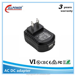 CE GS KC PSE portable usb 110V to 5V ac dc adapter with 2 pin
