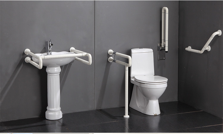 Accessible Wood Stair Handicap Toilet Grab Bar For Disabled - Buy ...
