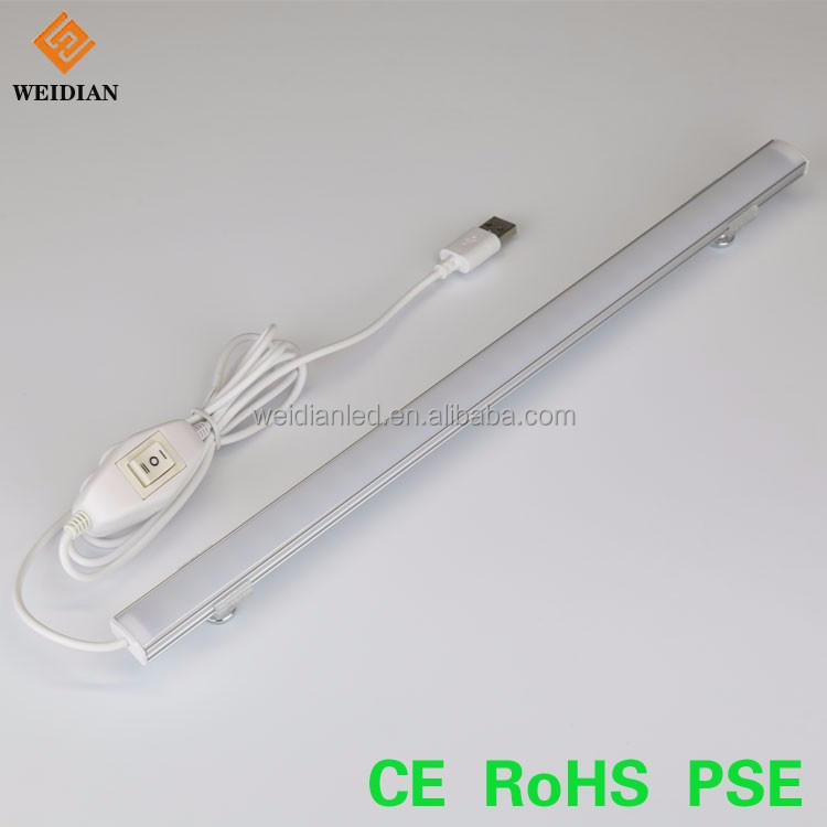 Factory price for DC 5V Portable USB 5W LED Light Strip Lamp with On/Off Switch