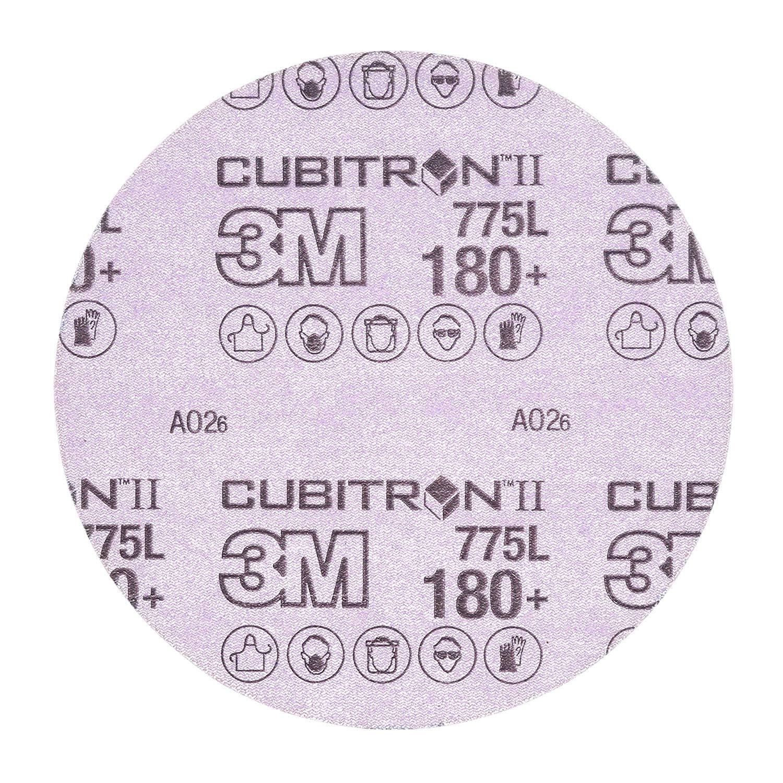 "Cubitron II 87040 3M Hookit Film Disc 775L, 6 in x NH 180+ film 3 MIL, Film, Backing, Precision Shaped Ceramic Grain, Ceramic, 6"", Purple (Pack of 50)"