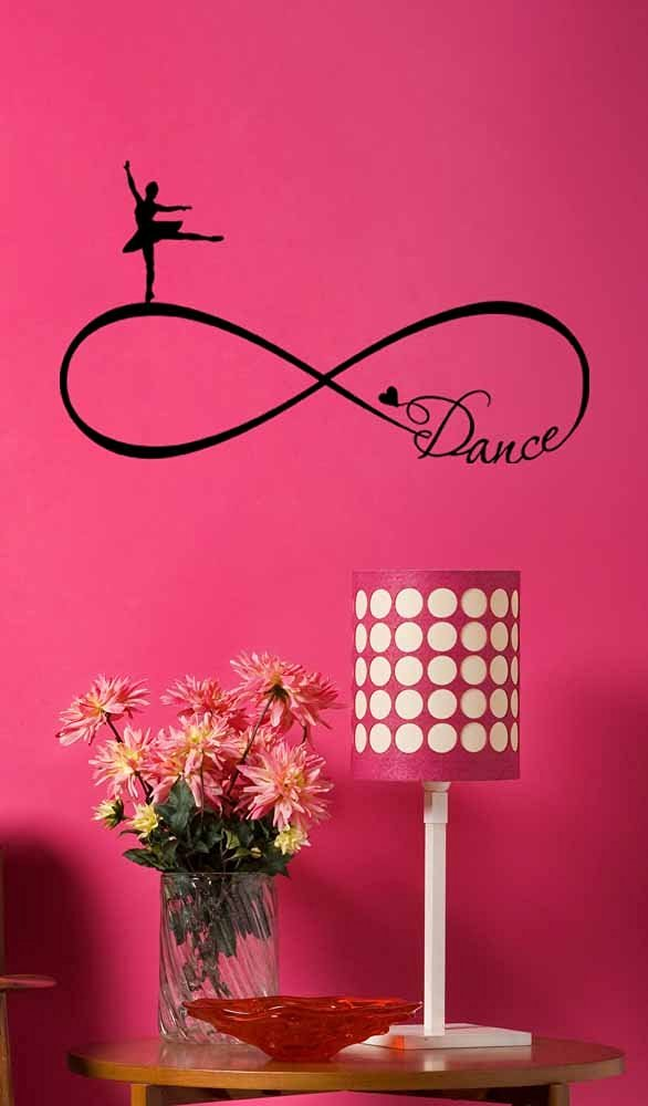 Buy Wall Decal Ballet Dance Forever Love Infinity Symbol Vinyl Wall