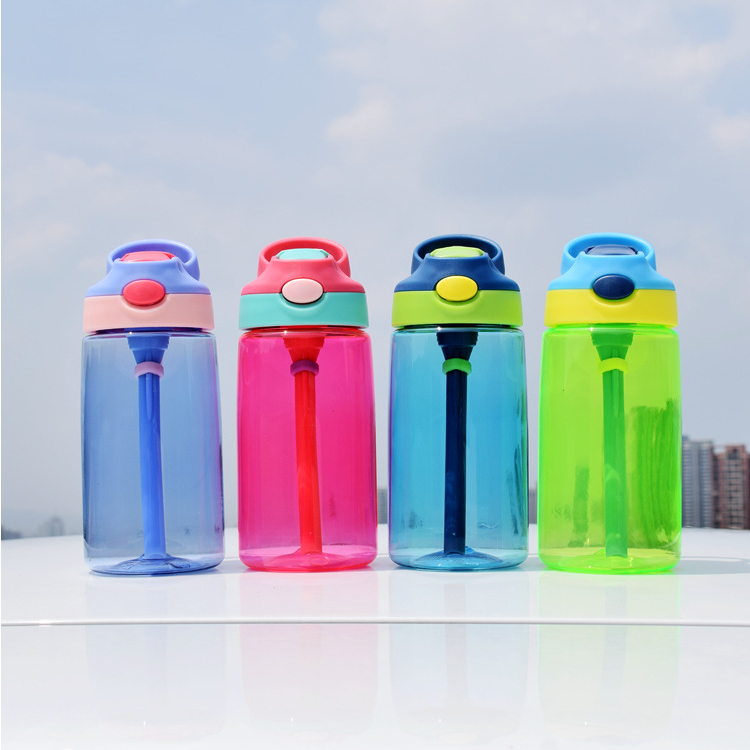 Leakproof Colorful Outerdoor Sports Plastic <strong>Bottle</strong> With Straw Cup