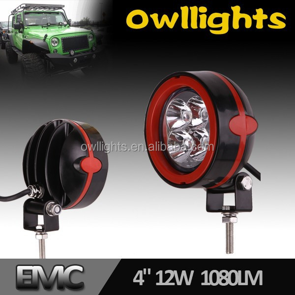 guangzhou auto Wholesale 12v LED Work Light Round 3 Inch 12w LED Spot Light Offroad H4 LED Headlight for Truck. Trailer, Tractor