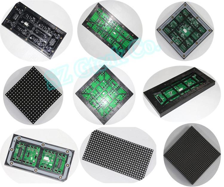 2020 HD في الهواء الطلق لوحات SMD3535 p8 p10 RGB كامل لون وحدة عرض إل سي دي 32x16 مصفوفة نقاط ليد لوحة