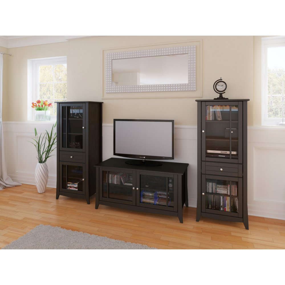 TV Console With Curio Cabinet
