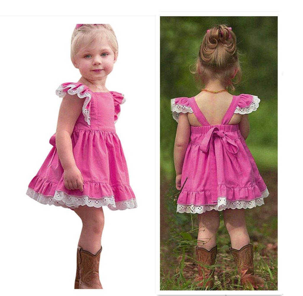 2093a64568e4 Princess Dress for Little Girls A-Line Lace Sundress Beach Sunsuit Clothes