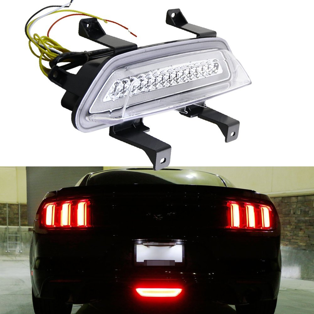 Cheap Light Mustang Find Deals On Line At Alibabacom 1988 Fog Lights Get Quotations Nslumo 1x Clear Lens 3 In 1 Led Rear Rearfog