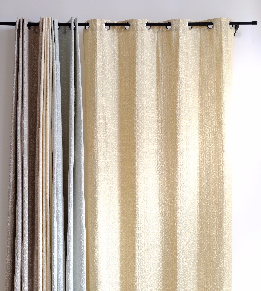 2017 hot wholesale curtain designs yarndyed for living room