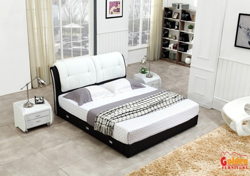 Foshan Golden furniture double cot bed designs