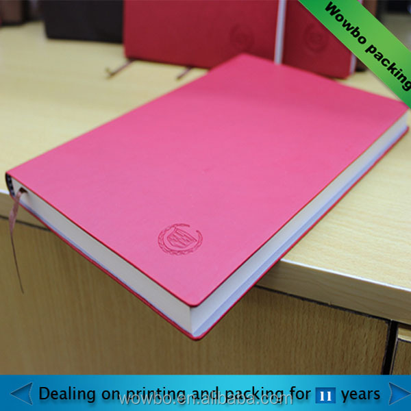 china personalized coupon pink journal book printing notebook with divider