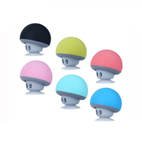 Competitive Price Cute Mushroom Shape Mini Portable Wireless Speaker With Sucker As Phone Holder