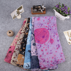 2015 Spring Fashion Lovely Music Print Staff Scarves