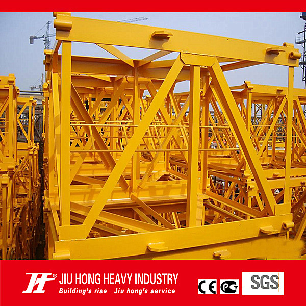 Tower Crane QTZ40(4808) jib length 48m, tip load 1.0T,tower crane lifting capacity 4t (split mast section)