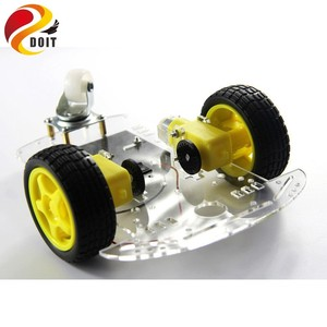 New 2wd Intelligent Car Robot Chassis with Speed Encoder Omni Universal Wheel DIY RC Toy TT Motor Remote Control