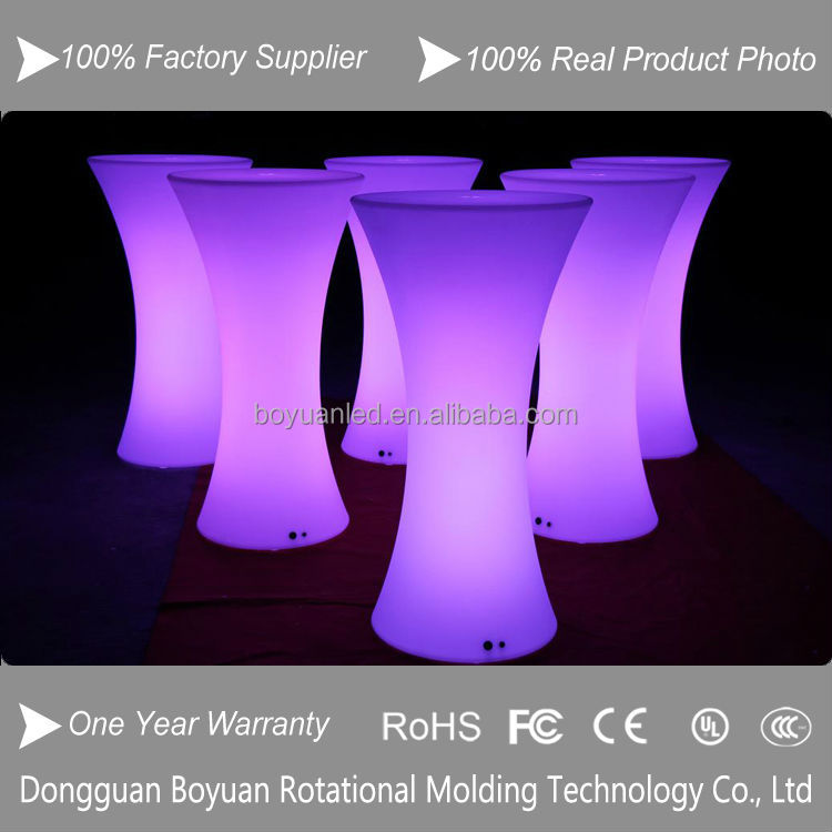 Fashionable Design Nightclub Cube LED Glowing Bar Coffee Table Domestic LED Dinner Table