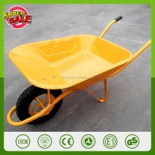 Qingdao manufacturer french commercial wheelbarrow WB6400 large capacity concrete wheelbarrow