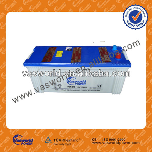 N120 12V120AH dry charged battery container