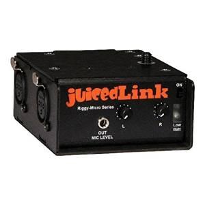 JuicedLink RM202 Riggy-Micro Dual-XLR Preamplifier, No Phantom Power