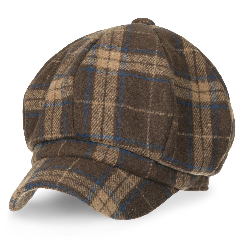 ililily Howels 8-Pannel Newsboy Cabbie Cap Wool Blended Ivy Flat Hunting Hat f74ad1cd0d39