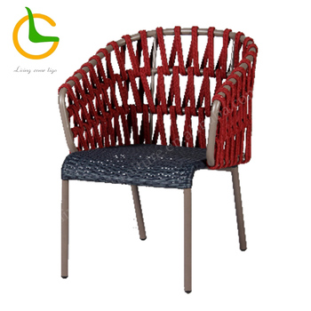 Red Stackable Rope Outdoor Balcony Chair Buy Balcony Chairs
