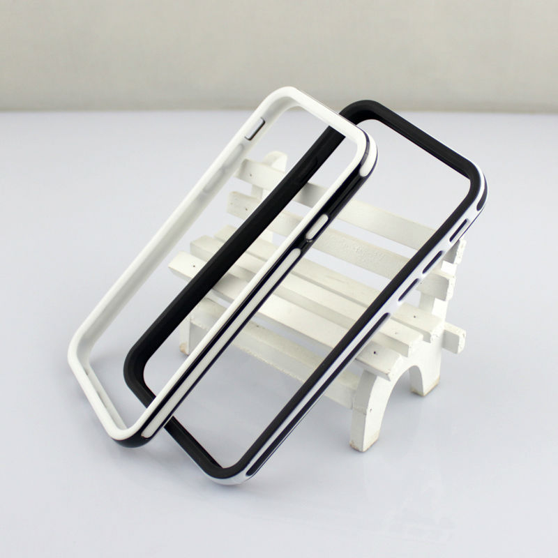 $0.95 Soft Pure White/Black TPU Slim Anti-Dropping Protector Frame Bumper Case For iphone6/6plus