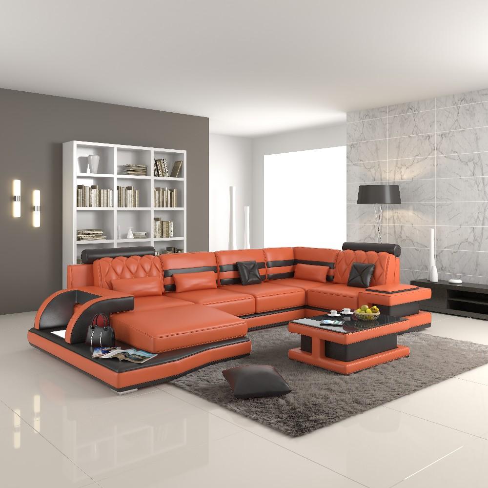 Colore Arancione Italia Divano In Pelle Moderno - Buy Italia Divano In  Pelle,Divano Moderno Divano In Pelle,Divano In Pelle In Stile Flexform  Product ...