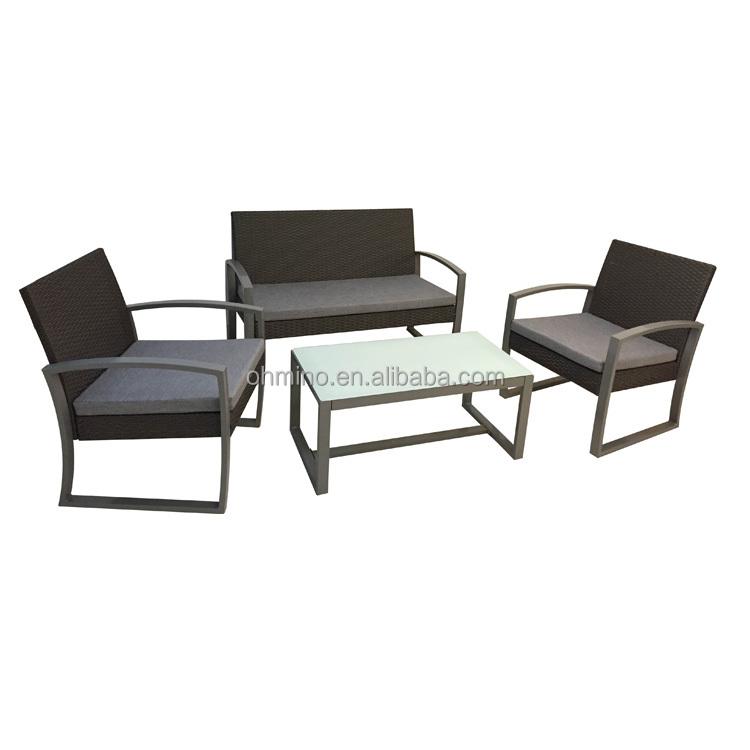 Balcón ratán set nuevo estilo diseño sofá muebles juego de sala ...