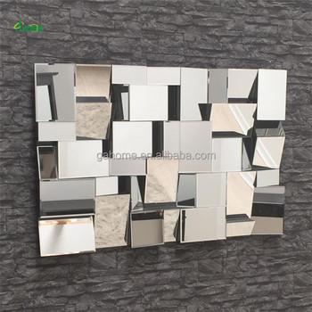 Grande Multi Sfaccettato 3d Decorativo Specchio A Parete - Buy ...